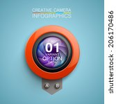 photography camera icon...   Shutterstock .eps vector #206170486