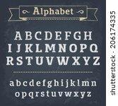 chalkboard alphabet. vector... | Shutterstock .eps vector #206174335