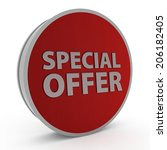 special offer circular icon on... | Shutterstock . vector #206182405