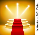 illuminated stage podium for... | Shutterstock .eps vector #206190046