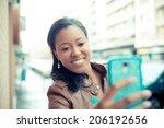 beautiful african young woman... | Shutterstock . vector #206192656