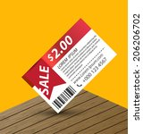 coupon sale  offers and... | Shutterstock .eps vector #206206702
