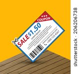 coupon sale  offers and... | Shutterstock .eps vector #206206738