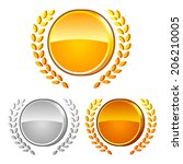 set of different medals with...