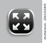 arrow fullscreen icon design....