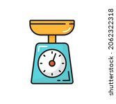 kitchen scales food measuring... | Shutterstock .eps vector #2062322318
