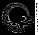 rotating speed lines in spiral... | Shutterstock .eps vector #2062335572