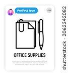 office supplies  paper  pen and ... | Shutterstock .eps vector #2062342082