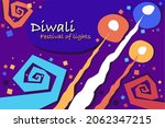 colourful diwali fireworks.... | Shutterstock .eps vector #2062347215
