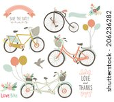 vintage hand drawn bike | Shutterstock .eps vector #206236282