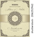 wedding invitation cards ... | Shutterstock .eps vector #206252962