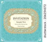 invitation card vintage style | Shutterstock .eps vector #206254372