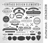vintage vector design elements. ... | Shutterstock .eps vector #206268208