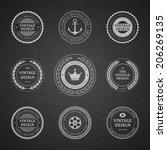 vintage vector design elements. ...   Shutterstock .eps vector #206269135