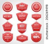 vintage vector design elements. ... | Shutterstock .eps vector #206269498