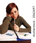 girl  young woman having... | Shutterstock . vector #2062697