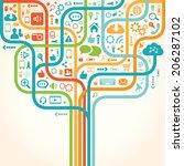 network tree | Shutterstock .eps vector #206287102
