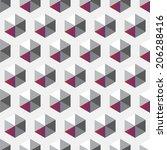 grey and magenta hexagon... | Shutterstock .eps vector #206288416