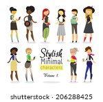 stylish minimal characters vol.1   Shutterstock .eps vector #206288425