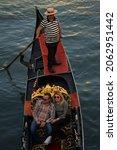 A Gondola In Venice Floats Down ...