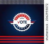 election day vote banner design ... | Shutterstock .eps vector #2062955072