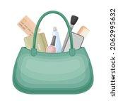 handbag full of typical woman...   Shutterstock .eps vector #2062995632