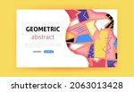 geometric landing page. vector...   Shutterstock .eps vector #2063013428