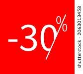 sale  30 percent colored icon....