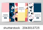 geometric web design. vector...   Shutterstock .eps vector #2063013725