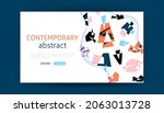contemporary abstract landing...   Shutterstock .eps vector #2063013728