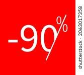 sale  90 percent colored icon....
