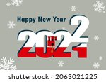 new year's card 2022. an... | Shutterstock .eps vector #2063021225