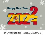 new year's card 2022. pictured  ... | Shutterstock .eps vector #2063022938