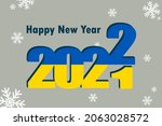 new year's card 2022. it... | Shutterstock .eps vector #2063028572