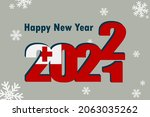 new year's card 2022. it... | Shutterstock .eps vector #2063035262