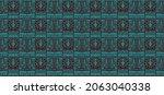 ikat geometric folklore...   Shutterstock .eps vector #2063040338