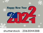 new year's card 2022. it... | Shutterstock .eps vector #2063044388