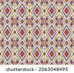 ikat geometric folklore...   Shutterstock .eps vector #2063048495