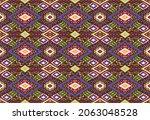 ikat geometric folklore...   Shutterstock .eps vector #2063048528