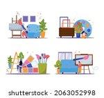 international artists day 2x2...   Shutterstock .eps vector #2063052998