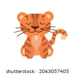 cartoon tiger. vector image.... | Shutterstock .eps vector #2063057405