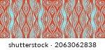 ikat border. geometric folk...   Shutterstock .eps vector #2063062838
