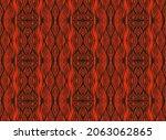 ikat border. geometric folk...   Shutterstock .eps vector #2063062865