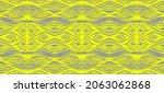 ikat border. geometric folk...   Shutterstock .eps vector #2063062868