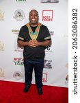 """Small photo of Brandon """"Brik"""" Miree attends The Leimert Park Cultural Film Festival at The Alley, Los Angeles, CA on October 23, 2021"""