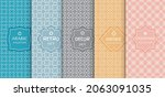 set of seamless line patterns ... | Shutterstock .eps vector #2063091035