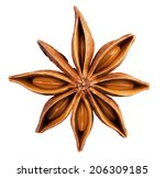 Anise Star Isolated On A White...
