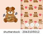 cute dog cartoon character.... | Shutterstock .eps vector #2063105012