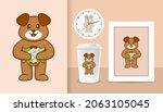 cute dog cartoon character.... | Shutterstock .eps vector #2063105045