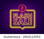 flash sale. flash neon banner ... | Shutterstock .eps vector #2063113592